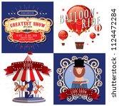 circus carnival fairground... | Shutterstock .eps vector #1124472284