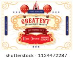 circus carnival fairground...   Shutterstock .eps vector #1124472287
