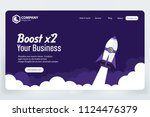 boost business website landing... | Shutterstock .eps vector #1124476379
