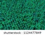 colorful 3d rendering. shape... | Shutterstock . vector #1124477849