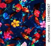 seamless stilyzed background... | Shutterstock .eps vector #1124480267