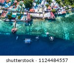 aerial view or top view of bay...   Shutterstock . vector #1124484557