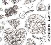 decorative seamless pattern... | Shutterstock .eps vector #1124494814