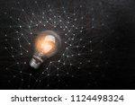 creativity ideas concept with... | Shutterstock . vector #1124498324