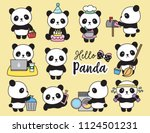 vector illustration of cute... | Shutterstock .eps vector #1124501231