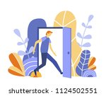 logged out concept for web page ...   Shutterstock .eps vector #1124502551