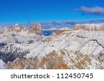 winter alps   italy dolomites | Shutterstock . vector #112450745