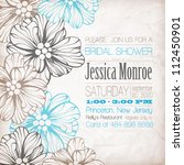 wedding card or invitation with ... | Shutterstock .eps vector #112450901