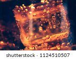 background of cola with ice and ... | Shutterstock . vector #1124510507