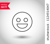 emoji vector icon. smile icon.... | Shutterstock .eps vector #1124514047