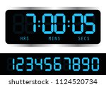timer clock. digital time clock.... | Shutterstock .eps vector #1124520734