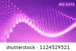 vector abstract data particle...
