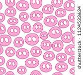 cute pig snout seamless pattern ...   Shutterstock .eps vector #1124533634