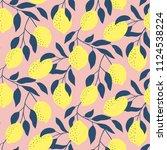 hand drawn seamless pattern...   Shutterstock .eps vector #1124538224