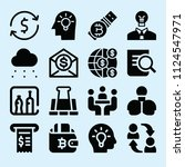 filled set of 16 business icons ...   Shutterstock .eps vector #1124547971