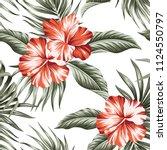 tropical vintage flower... | Shutterstock .eps vector #1124550797