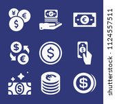 filled money icon set such as...   Shutterstock .eps vector #1124557511