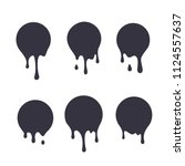 dripping paint icon set.... | Shutterstock .eps vector #1124557637