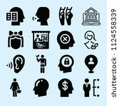 filled set of 16 people icons... | Shutterstock .eps vector #1124558339