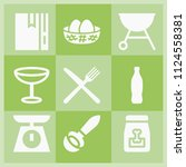 filled food icon set such as... | Shutterstock .eps vector #1124558381