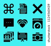 set of 9 interface filled icons ... | Shutterstock .eps vector #1124560439