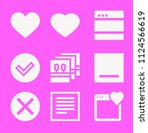 set of 9 interface filled icons ... | Shutterstock .eps vector #1124566619