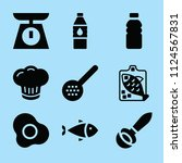 filled food icon set such as... | Shutterstock .eps vector #1124567831