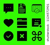 set of 9 interface filled icons ... | Shutterstock .eps vector #1124572901