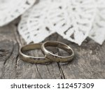 wedding rings | Shutterstock . vector #112457309