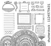 bullet journal hand drawn... | Shutterstock .eps vector #1124575631