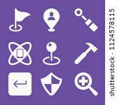 filled set of 9 tool icons such ... | Shutterstock .eps vector #1124578115