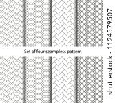 4 monochrome seamless patterns... | Shutterstock .eps vector #1124579507