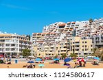 albufeira  portugal   september ... | Shutterstock . vector #1124580617