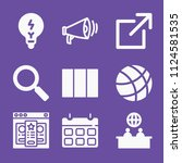 filled set of 9 interface icons ...   Shutterstock .eps vector #1124581535