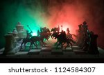 Medieval Battle Scene With...