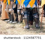 old style knight equipment for... | Shutterstock . vector #1124587751