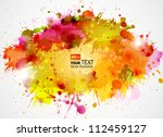abstract artistic background of ... | Shutterstock .eps vector #112459127