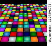 illustration of a dance floor... | Shutterstock .eps vector #1124596775