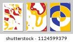 cover design templates set in... | Shutterstock .eps vector #1124599379