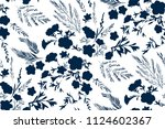 floral seamless pattern with... | Shutterstock .eps vector #1124602367