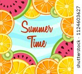 summer time background with... | Shutterstock .eps vector #1124603627