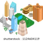 modern district of the city on... | Shutterstock .eps vector #1124604119