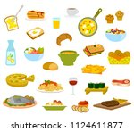 a collection of menu items for... | Shutterstock . vector #1124611877