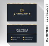 business model name card luxury ... | Shutterstock .eps vector #1124613734