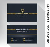 business model name card luxury ... | Shutterstock .eps vector #1124613764