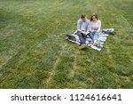 lovely university students... | Shutterstock . vector #1124616641