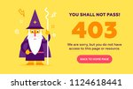 the concept of 403 forbidden... | Shutterstock .eps vector #1124618441