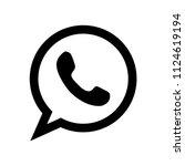 phone vector icon  social media ... | Shutterstock .eps vector #1124619194