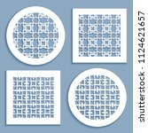 templates for laser cutting ... | Shutterstock .eps vector #1124621657