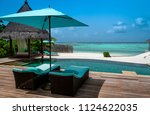 acation on maldives. tropical... | Shutterstock . vector #1124622035